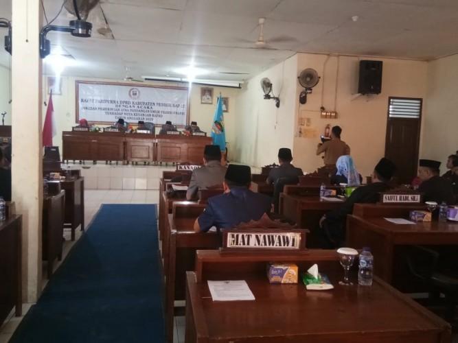 DPRD Pesisir Barat Gelar Rapat Paripurna