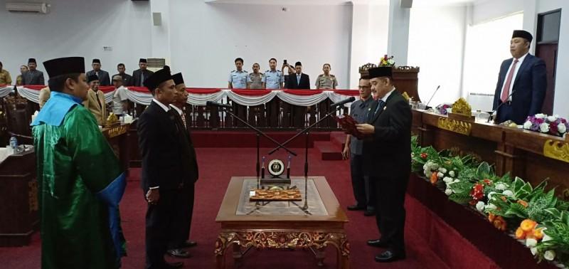 DPRD Tubaba Gelar Pengangkatan dan Pengambilan Sumpah PAW Anggota DPRD