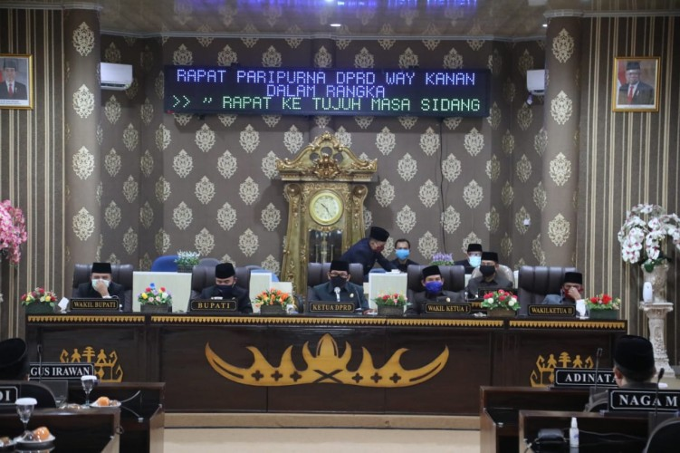 DPRD Way Kanan Gelar Paripurna Penyampaian LKPj Kepala Daerah 2019