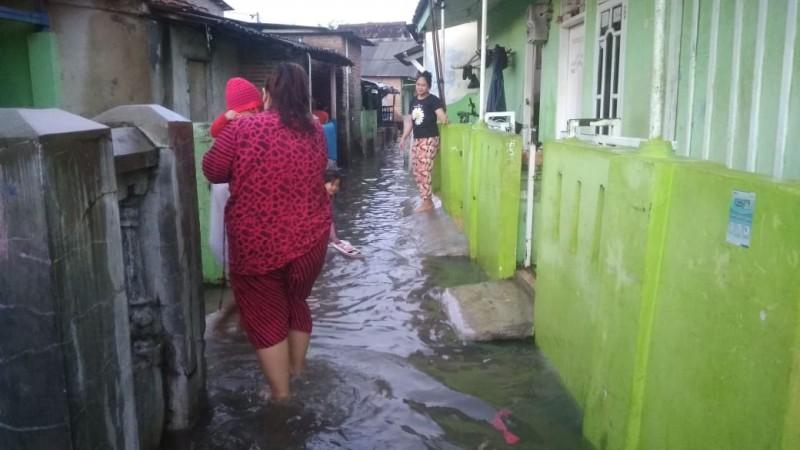 Permukiman di Jalan Teluk Rantai 2 Terendam Banjir