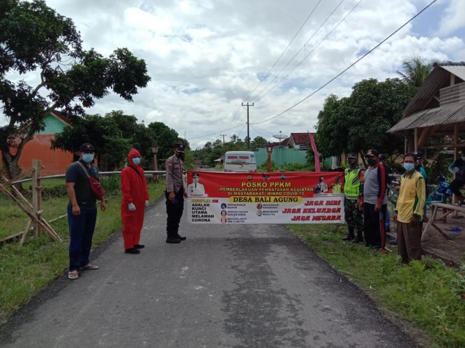 Dua Desa Zona Merah di Palas Perketat PPKM Mikro