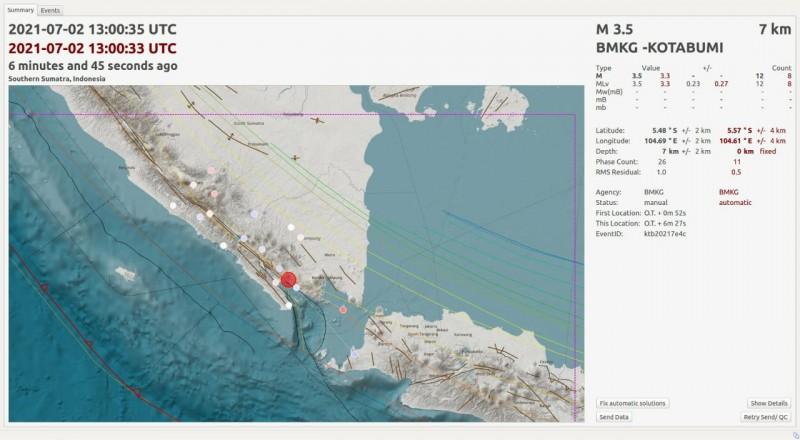 Dua Hari, Tanggamus Digoyang 220 Gempa