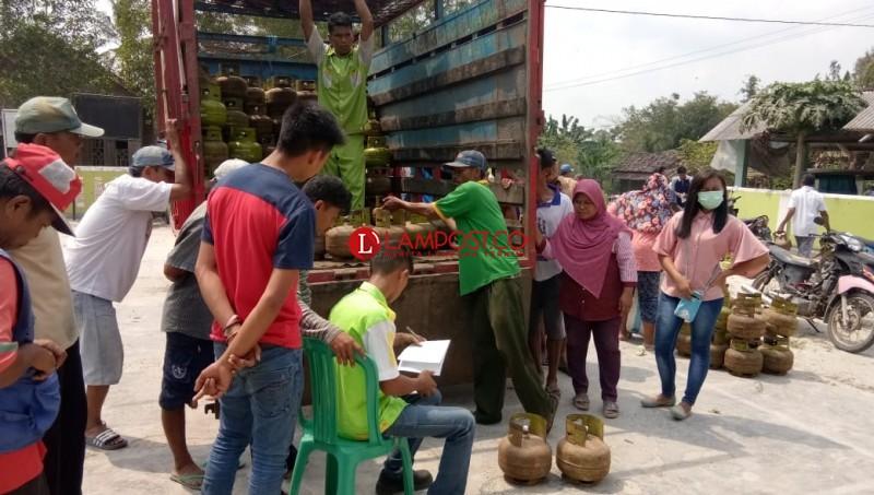 Dua Kali Operasi Pasar, Gas Elpiji 3 Kg Masih Langka di Lamsel