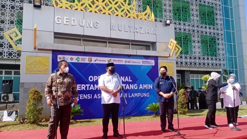 Dua Menteri Resmikan RS Darurat Covid-19 di Lampung