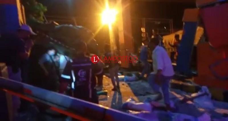 Dua Orang Tewas Akibat Tronton Rem Blong di Bakauheni
