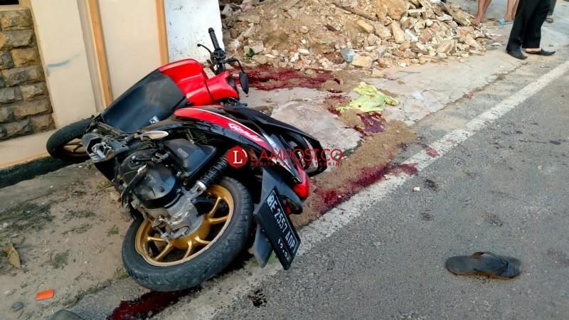 Dua Pemuda Kecelakaan Tunggal di Jagabaya, Satu Tewas