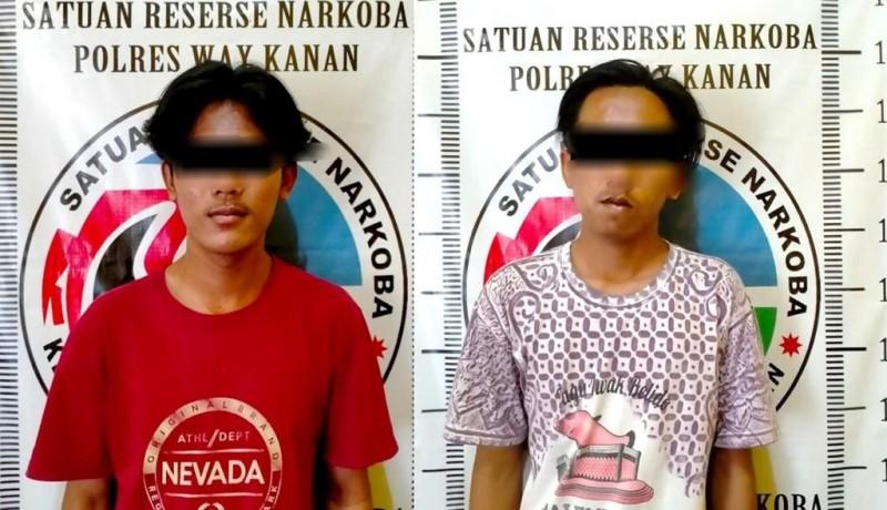 Dua Pemuda Way Kanan Diringkus Edarkan Sabu di Jalinsum