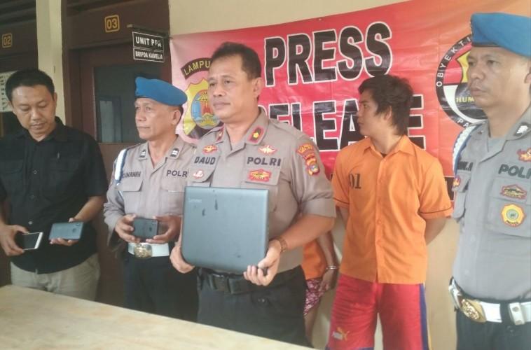 Dua Pencuri dan Satu Penadah asal Natar Diamankan Polisi