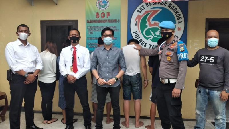 Dua Pengedar dan Tiga Pemakai Sabu di Gisting Ditangkap Polisi