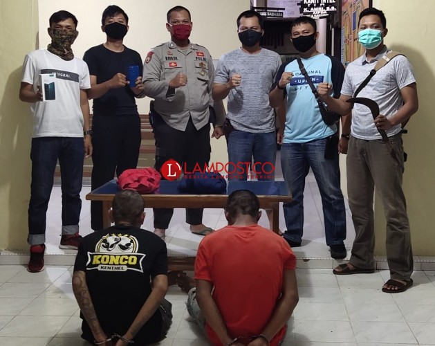 Dua Perampok Bersenjata Parang di Tuba Ditangkap