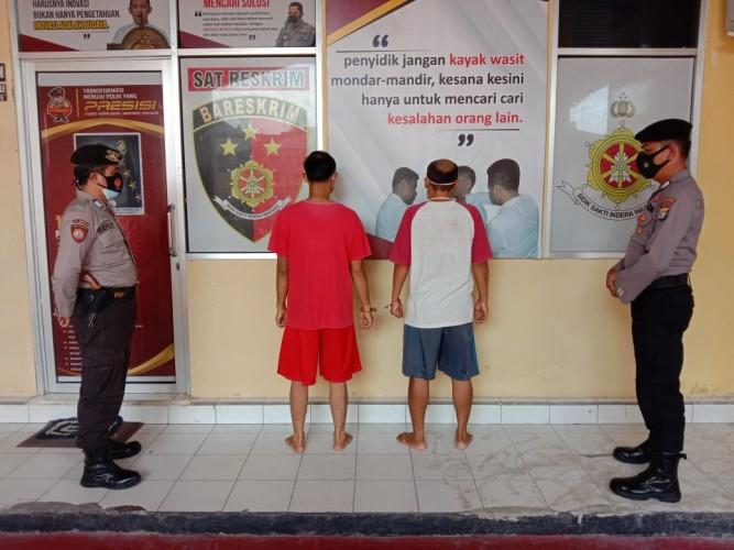 Dua Tukang Ojek di Pringsewu Tertangkap Basah Pesta Sabu