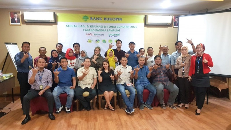 Dukung Program OJK, Bank Bukopin Edukasi Program Laku Pandai di Bandar Lampung