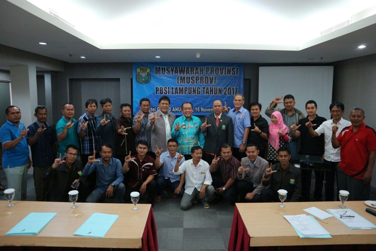 Abdullah Fadri Aulia Menjadi Ketua PBSI Lampung Periode 2017-2021