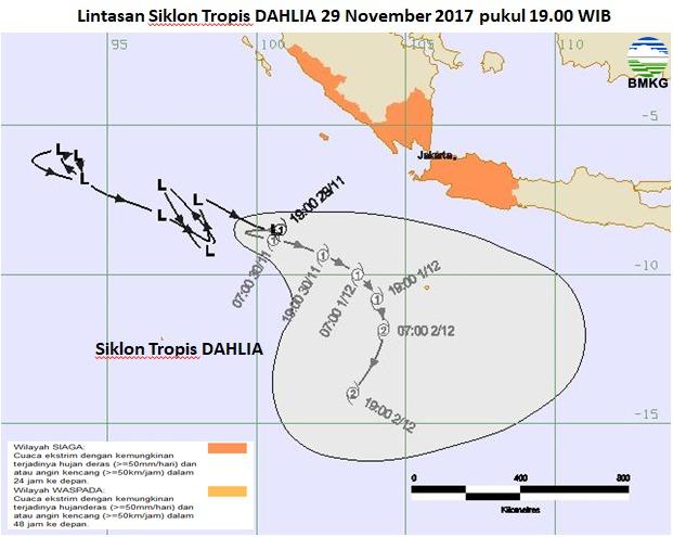 Mengenal Nama Siklon Tropis di Indonesia