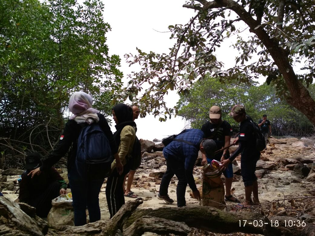 WWF Tanam Pohon dan Bersihkan Sampah di Pantai Pesawaran