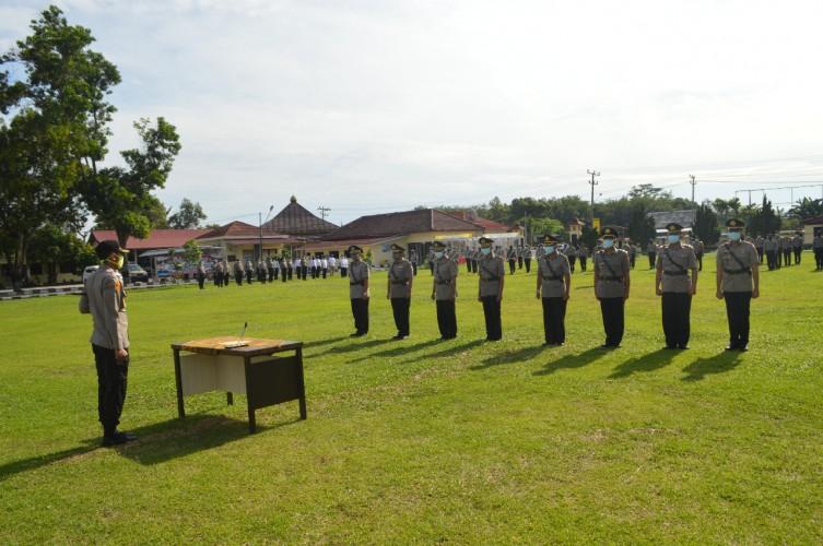 Empat Pejabat Polres Tulangbawang Dimutasi