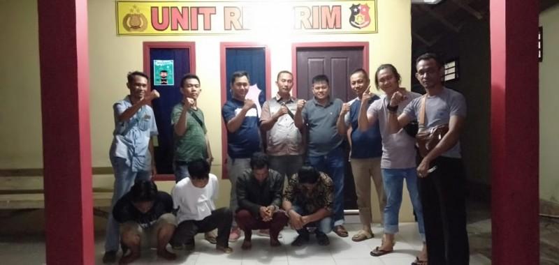 Empat Pemuda Ditangkap Saat Pesta Sabu