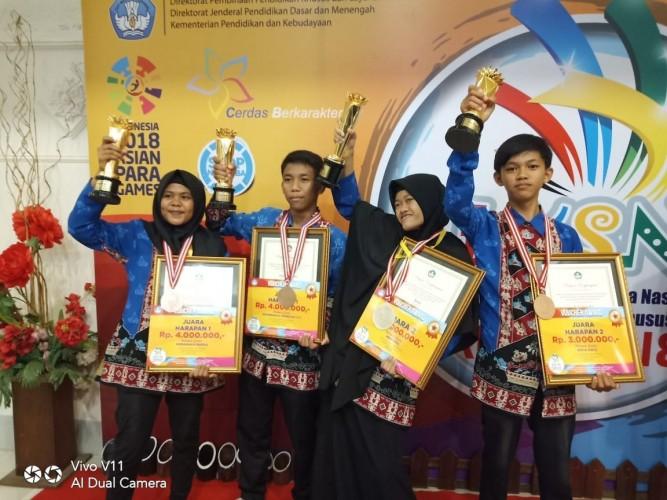 Empat Siswa SLB Lampung Raih Juara LKSN ABK Tingkat Nasional