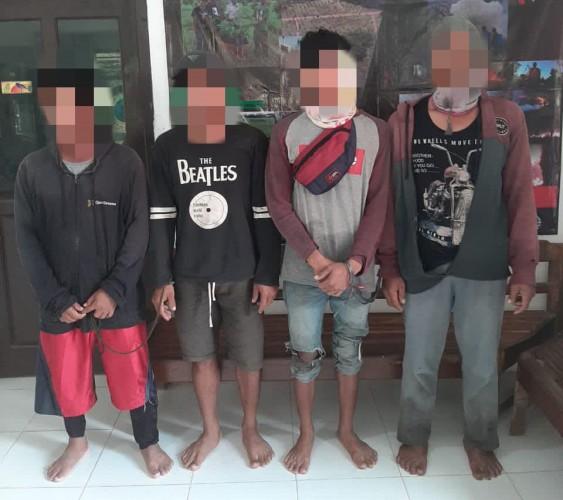 Empat Tersangka Perburuan Liar Ditangkap Polhut TNWK