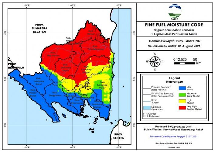 Enam Daerah di Lampung Rawan Kebakaran