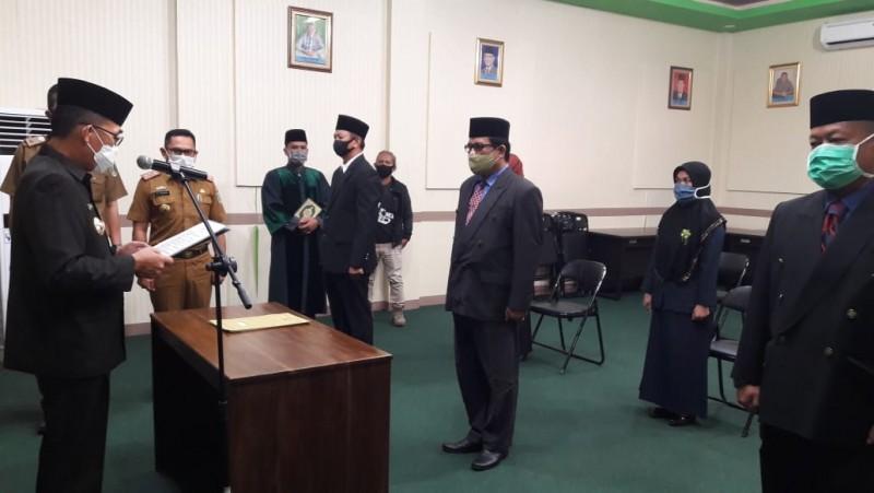Enam Pejabat Lingkup Pemkab Lamtim Dilantik