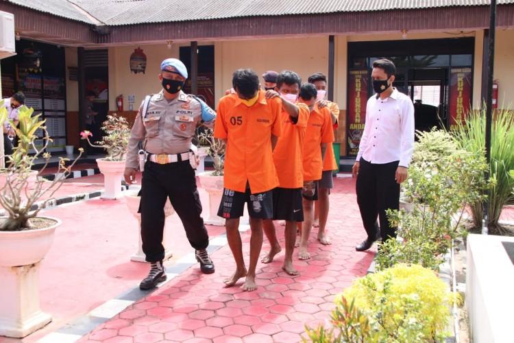 Enam Pelaku Penyalahgunaan Narkoba Ditangkap