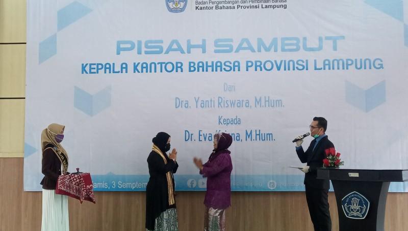 Eva Krisna Jabat Kepala Kantor Bahasa Lampung