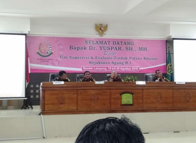 Evaluasi Kinerja Kajari Se-Lampung , Kejagung Singgung DPO Satono