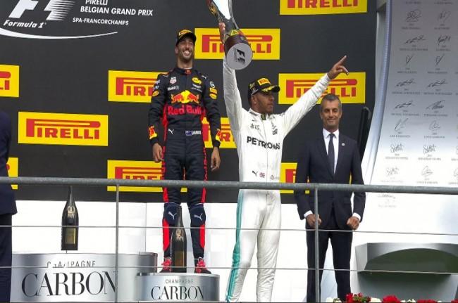 Hamilton Jawara GP Belgia