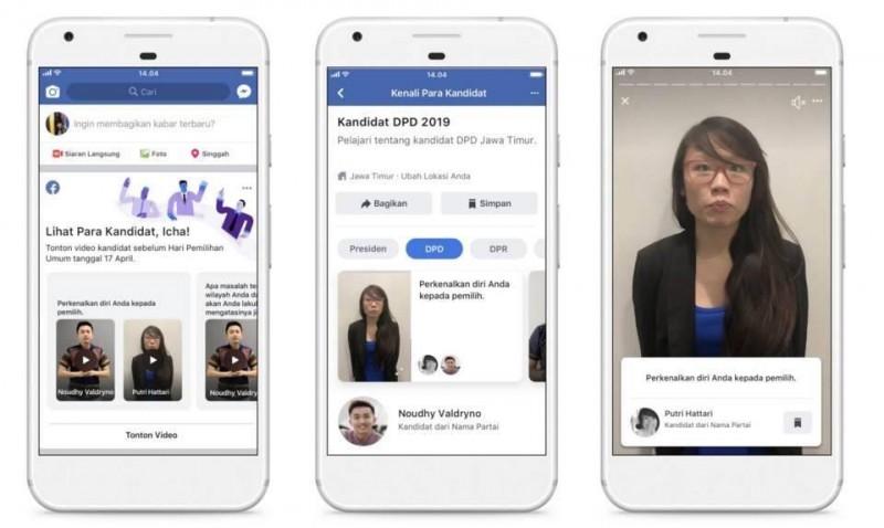 Facebook Luncurkan Fitur Info Kandidat