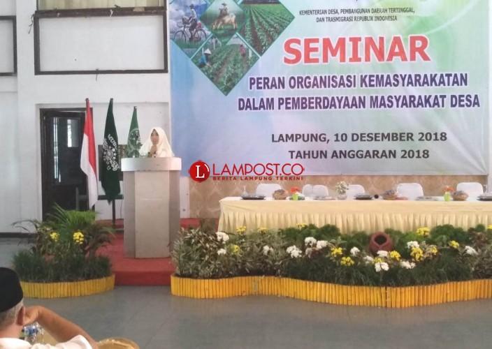 Fatayat NU di Lampung Ikuti Seminar Organisasi Kemasyarakatan