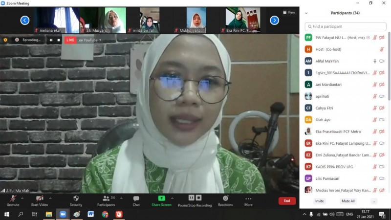 Fatayat NU Lampung Dorong Pengesahan RUU-PKS
