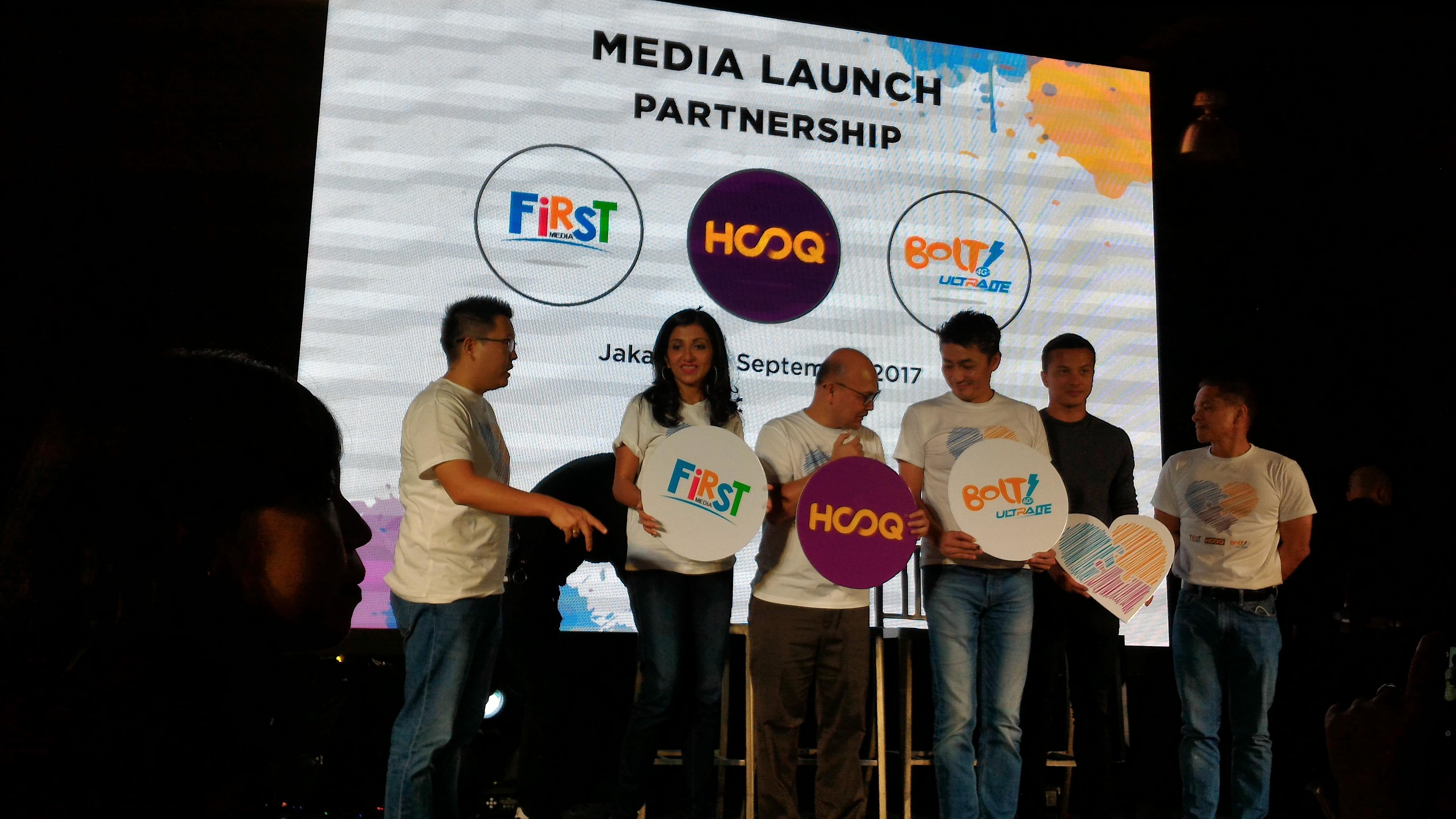 Bolt, First Media, HOOQ Umumkan Kerja Sama
