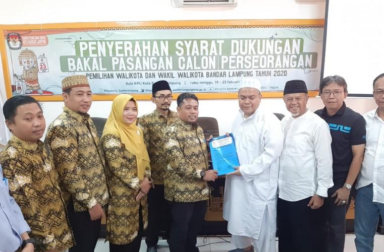 Firmansyah-Alfian Bustomi Serahkan Syarat Dukungan Perseorangan ke KPU