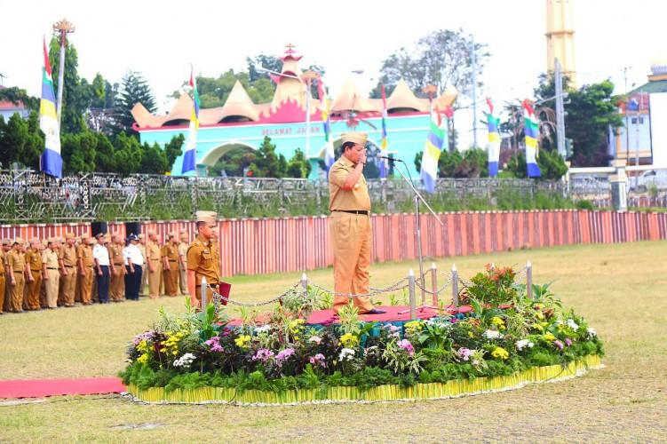 (Foto) Apel Pagi Pertama Gubernur Arinal Djunaidi