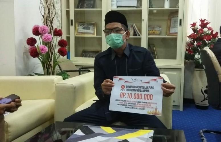 Fraksi PKS Lampung Sisihkan Gaji untuk Korban Bencana