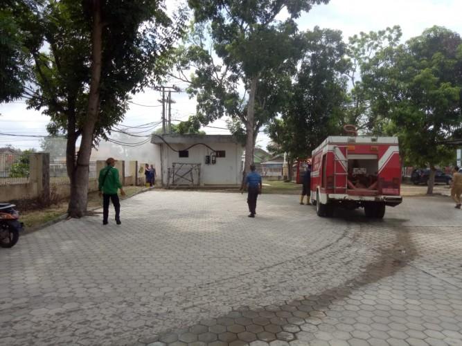 Gardu Listrik Depan Kantor Dinkes Tuba Terbakar