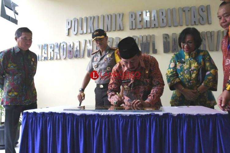 Gedung Poliklinik Rehabilitasi Narkoba dan HIV/AIDS Diresmikan