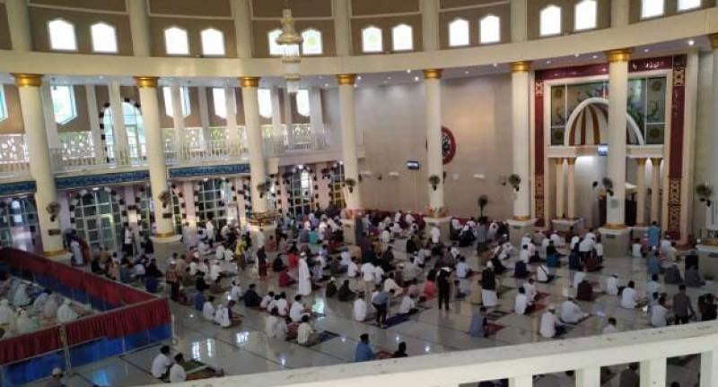Gelar Salat Id, Masjid Taqwa Metro Terapkan Protokol Kesehatan