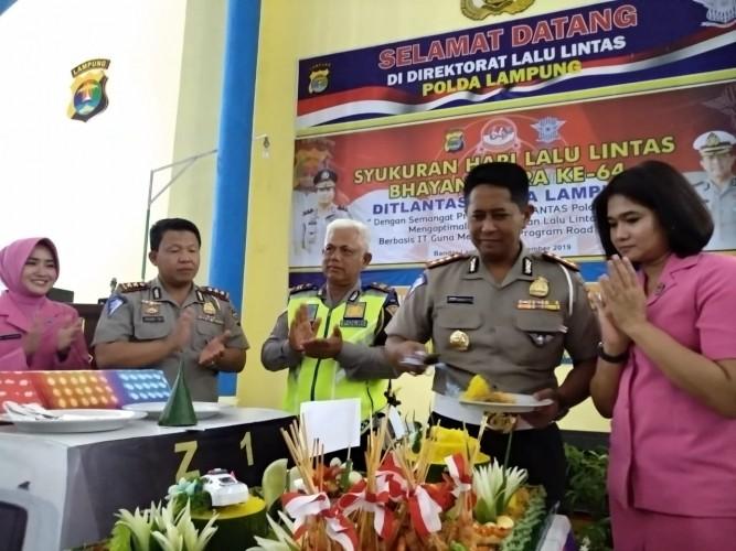 Gelar Syukuran Hari Lalu Lintas Bhayangkara, Ini Harapan Polda Lampung