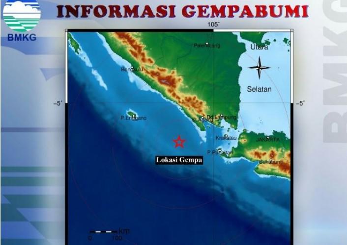 Gempa Berkekuatan 3.4 SR Guncang Pesisir Barat