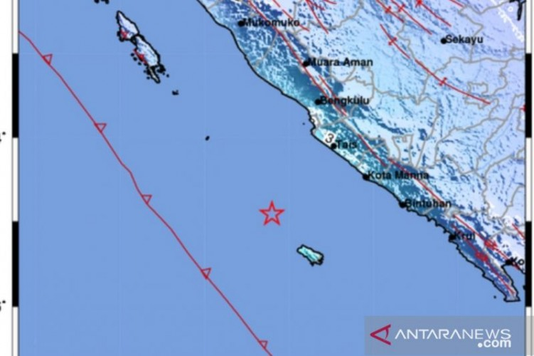 Gempa Berkekuatan Magnitudo 5,4 Landa Kepulauan Enggano