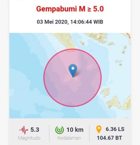 Warga Bandar Lampung 2 Kali Rasakan Getaran Gempa