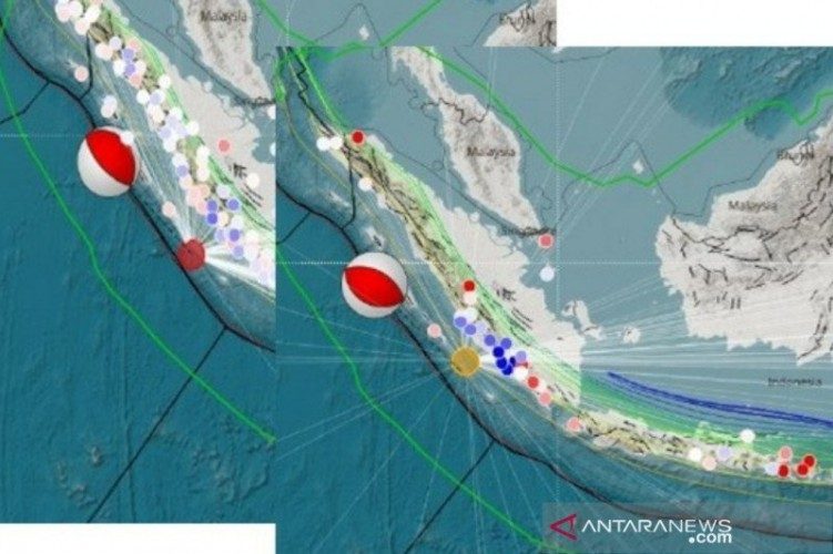 Gempa Kembar di Bengkulu Terjadi di Segmen Megathrust Mentawai-Pagai