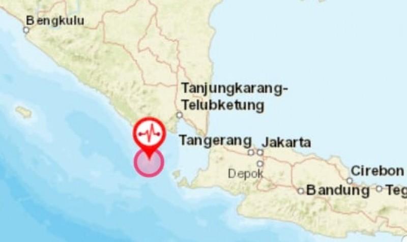 Gempa Magnitudo 5,3 Guncang Perairan Dekat Tanggamus