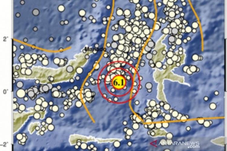 Gempa Magnitudo 6,1 Guncang Maluku Utara