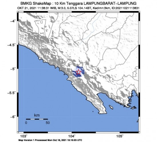 Gempa Tektonik 3 Magnitudo Guncang Liwa