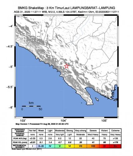 Gempa Tektonik di Lambar Tidak Berpotensi Tsunami