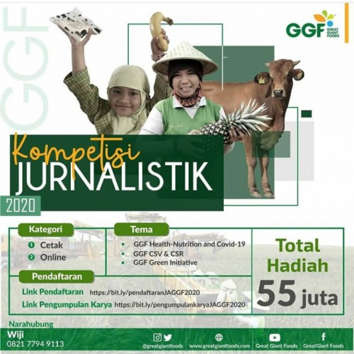 GGF Apresiasi Jurnalis lewat Kompetisi Jurnalistik 2020
