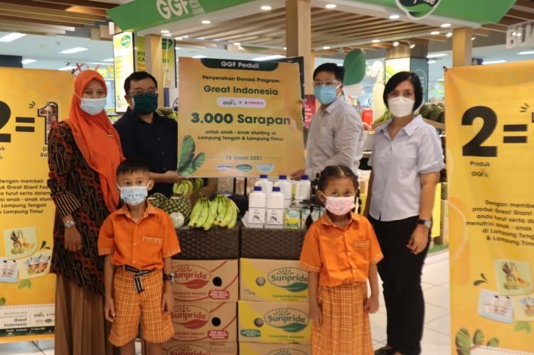 GGF Donasikan 3.000 Sarapan Sehat untuk Anak-Anak Stunting